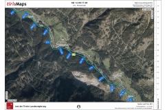Kilometer 14.00 bis 17.00